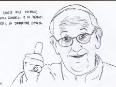 """Forte la voce del Papa nel quartiere di Scampia: """"La corruzione spuzza!"""""""