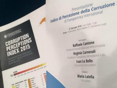 Corruption Perception Index 2015. L'Italia guadagna 8 posizioni