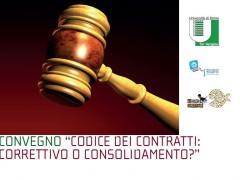"""Invito al Convegno """"Codice dei Contratti: Correttivo o Consolidamento?"""""""