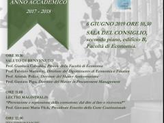 #SAVE THE DATE#: 06/06/2019.Cerimonia conclusiva del Master Anticorruzione, III Edizione, a.a. 2017-2018, Università degli Studi di Roma Tor Vergata