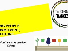 Save the date# 18/05/2020. Economy of Francesco- Agriculture and Justice Village presentation