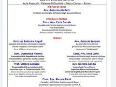 SAVE THE DATE # 14.04.2021 alle ore 15 Ordine degli avvocati di Roma organizza l'evento : La corruzione dall'antica Roma ad oggi è gli strumenti attuali anticorruzione